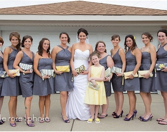 Trending Wedding Color for 2016 ... Bridesmaids Clutches ... Rose, Peach, Serenity, Snorkel Blue, Buttercup, Shell, Lilac, Iced Coffee