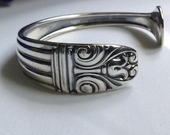 Spoon Bracelet. Cuff Bracelet. Danish Queen.Spoon Jewelry. Silverware Jewelry. Silver Bracelet.