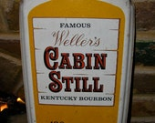 Vintage Cabin Still Kentucky Bourbon Thermometer Sign / Ducks / Geese