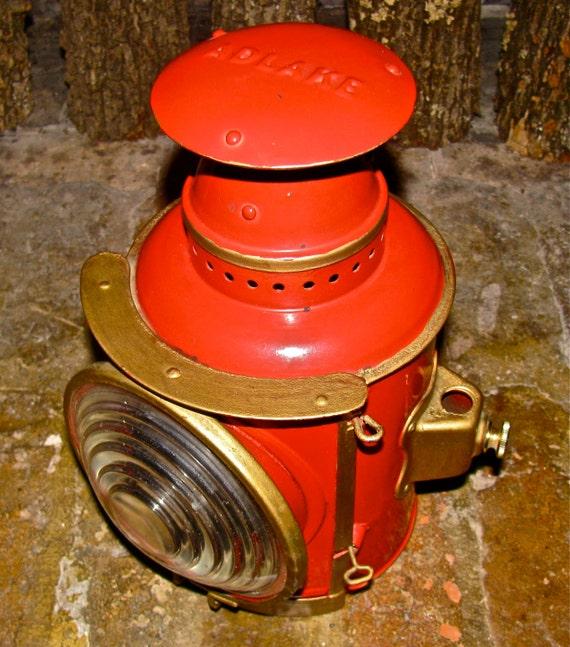 Antique Adlake Kerosene / Oil Lantern / Lamp / Light