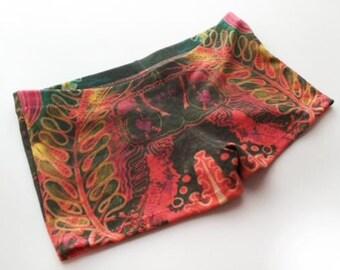 M Illustration Short Shorts  Organic Cotton Size Medium