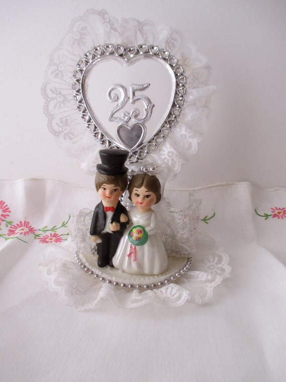 25th Anniversary CAKE TOPPER Love Wedding Couple