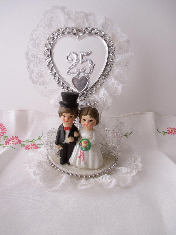 25th anniversary CAKE TOPPER Love Wedding Couple
