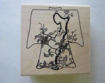 rubber stamp - KIMONO plum blossom - Limited Edition Rubber Stamps