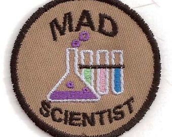 Mad Scientist Geek Merit Badge Patch