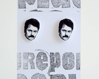 Parks and Recreation - 'Ron Swanson' earrings