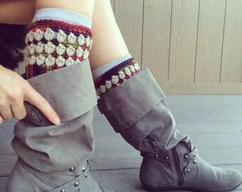 PDF Crochet Pattern - Boot Cuffs Women Teen Girl Layer Fall Leg Warmer