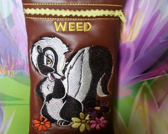 Custom made Pipe Pouch. Island Skunk Weed pipe pouch.