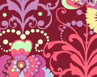 SALE Amy Butler Paradise Wine Garden Fabric 1 yard