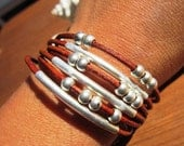 Women leather bracelet, genuine camel brown leather bracelet, custom handmade bracelet, leather jewelry trend