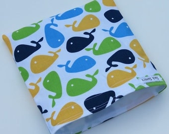 Reusable Eco Friendly Sandwich or Snack Bag Whales