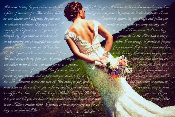 Wedding Vow Gifts: 1st Anniversary Gift Wedding Vow Art Wedding Vows Framed