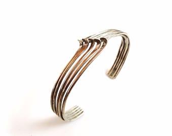REDUCED Vintage modernist Sterling cuff  Bracelet sterling silver