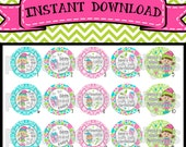 "Best Present Ever - INSTANT DOWNLOAD 1"" Bottle Cap Images 4x6 - 561"