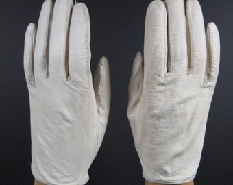 6-6-1/2-Womens Vintage Leather Driving/Dress Gloves(340g)