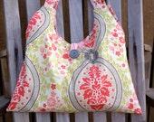 Keyhole Print Hobo Style Handbag