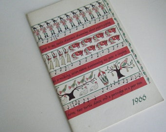 Holiday Greetings 1966 from the Michigan Consolidated Gas Company Christmas cookbook recipes 12 days of Christmas