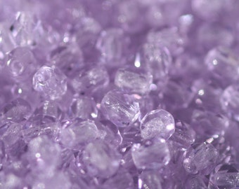 50 pieces of Alexandrite 4 mm fire polished czech crystal beads (CZ04-172)
