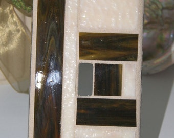 Screw Less Stained Glass Switch Plate Cover