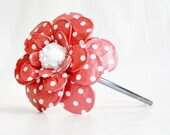 Nothing But Red Daisy Paper Mache Headband