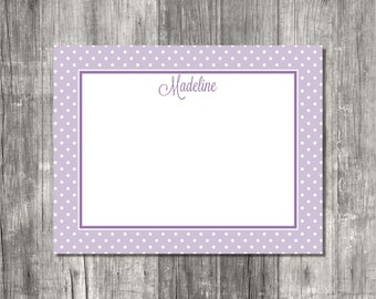 Personalized Note Cards Set - Mini Dots (FLAT)