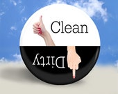Clean or Dirty Dishwasher Magnet - Finger Magic - 2.25 Inches