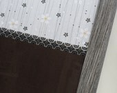 Magnet Board-Dry Erase Board-Magnetic Memo Board-Wall Decor - Organization - Framed Memo Board - Flower Shower Patchwork Design-Incl Magnets