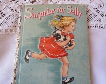 20 PERCENT OFF All Little Golden Books Coupon Sale : Surprise for Sally  - A Little Golden Book 1950's