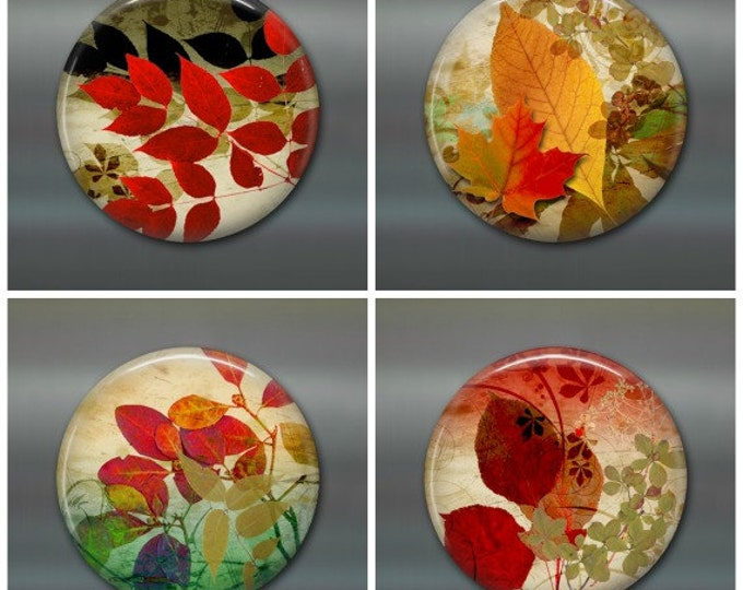 "3.5"" fall leaves fridge magnet set, leaf magnet, fall decor, autumn decor,  kitchen decor, large fridge magnet, housewarming gift"