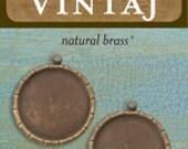 Vintaj Brass Co, Small Bamboo Bezel, Destash jewelry supplies