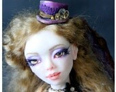 Art Doll One of a Kind Steampunk Aria made with clay and fabric