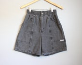 High Waisted Black Shorts Vintage Denim Jeans Small