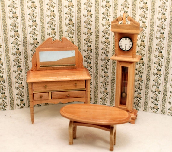 Dollhouse Furniture Buffet And Coffee Table