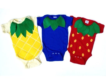 Fruit Salad Triplet Baby Costume, Food Onsie Halloween Costume