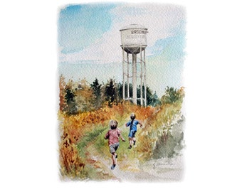 Brooklin Water tower print - Archival quality print