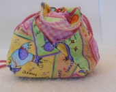 Small kid purse, jewelry bag, pouch, drawstring bag, cluth bag, handmade item, unique items, mini purse, coin pursr, small wrist purse