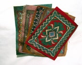 5 Vintage Doll House Miniature Area Rugs