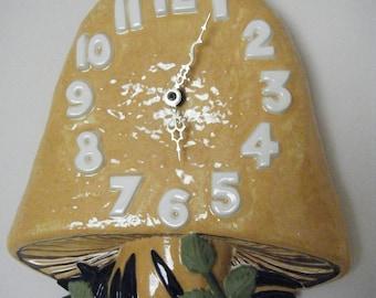 Arnel's Ceramic Mushroom Wall Clock