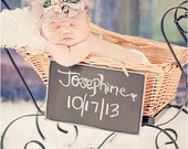 Bejeweled -  Smokey Lavender Chiffon Baby Headband