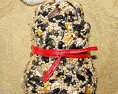 Bird Seed Feeder 1/4 lb. Snowman Shape ornament cake - wreath