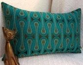 Maharam Peacock Lumbar Pillow Cover - Design 9297 by Josef Hoffmann - Mid Century Modern