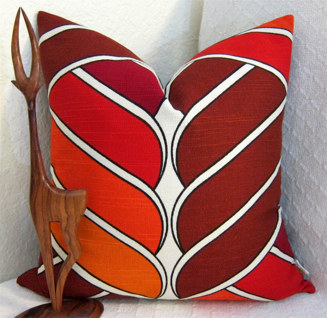 Danish Modern Pillows : MCM Danish Modern Pillow Cover 1960s BOHO by atomiclivinhome