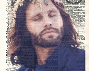 Jim Morrison The Doors Dictionary Art Print