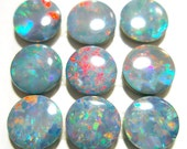 Opal Cabochons Doublet Confetti 4mm Round Australian ONE STONE Perfect for Stacking Rings Jewelry PinFire Red Blue Sparkle Teal Green Pink