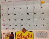 1977 Strohs Beer Wall Calendar  unused