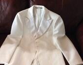 Vintage 1970's Mens white Tuxedo Jacket