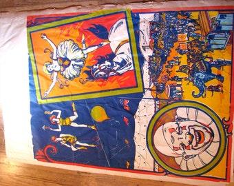 Large 1940s Original Silkscreen Circus Poster Blank