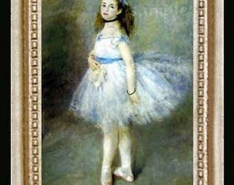 Ballerina Dancer Miniature Dollhouse Art Picture 6241