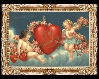 My Valentine Miniature Dollhouse Valentine's Art Picture 6611