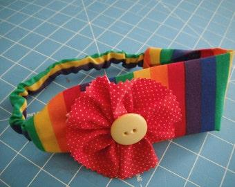 Baby Girls Fabric Headband - Toddlers Accessories - Fabric Headband - Rainbow - Hair Accessory